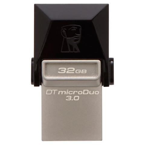 Флеш-память Kingston DT microDuo 3C 32GB USB 3.0/3.1 + Type-C серебристая