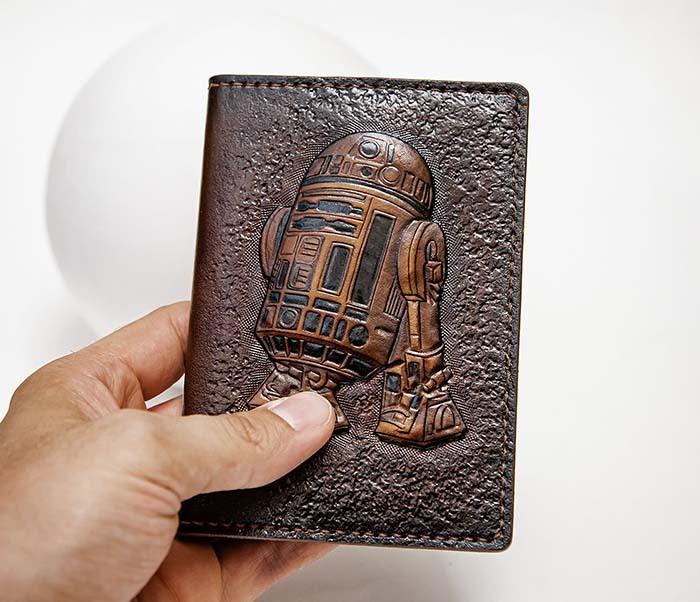 BC225 Обложка на паспорт «Звездные Войны. R2D2» ручной работы фото 06