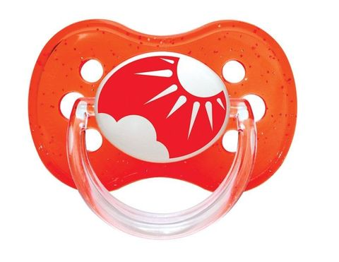 Canpol. Пустышка Nature круглая силиконовая, 0-6 мес., красный