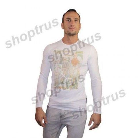 Мужская футболка с длинным рукавом белая Dolce&Gabbana FDR0105