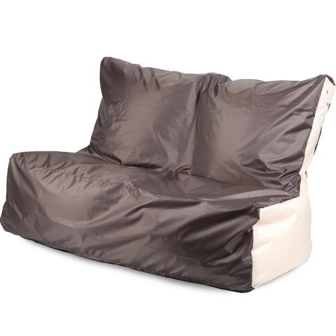 Бескаркасный диван «Классический», Коричневый и бежевый