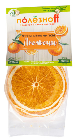Фруктовые чипсы ПолезноFF  Апельсин, 30 г