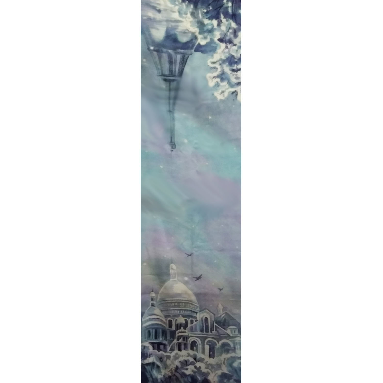 Шерстяной шарф батик Монмартр Париж С-57-ш