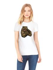 Футболка с принтом Медведь, Медвежонок (Bear) белая w003