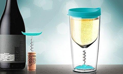 Бокал Asobu Vino opener (0,35 литра), голубой