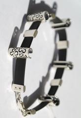 Вязь  (серебряный браслет)