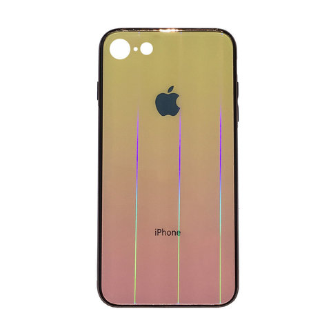 Чехол iPhone 6/6S Plus Glass Shine Case Logo /yellow/