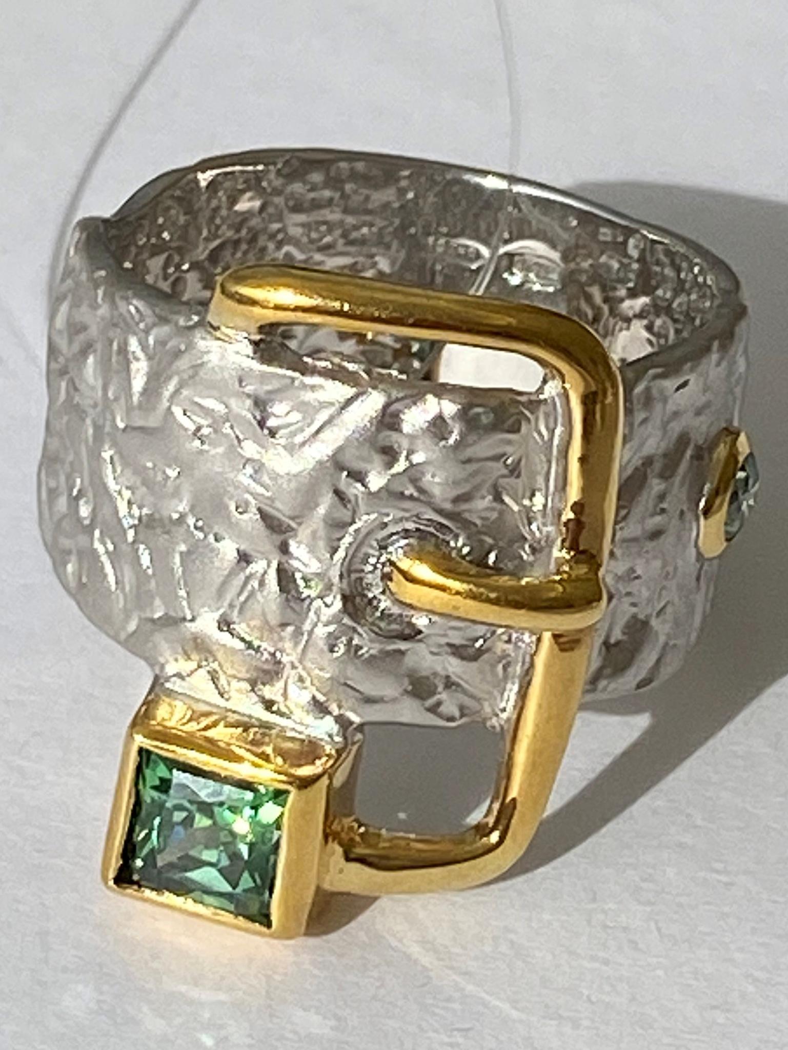 Ремень (кольцо из серебра с позолотй)