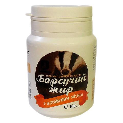 Барсучий жир с мёдом и дигидрокверцетином Алтаведъ, 100мл