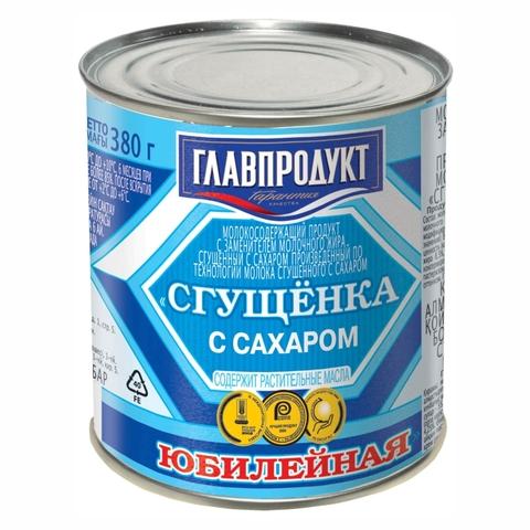Молоко сгущеное ЮБИЛЕЙНОЕ 380 гр ж/б ГлавПродукт РОССИЯ