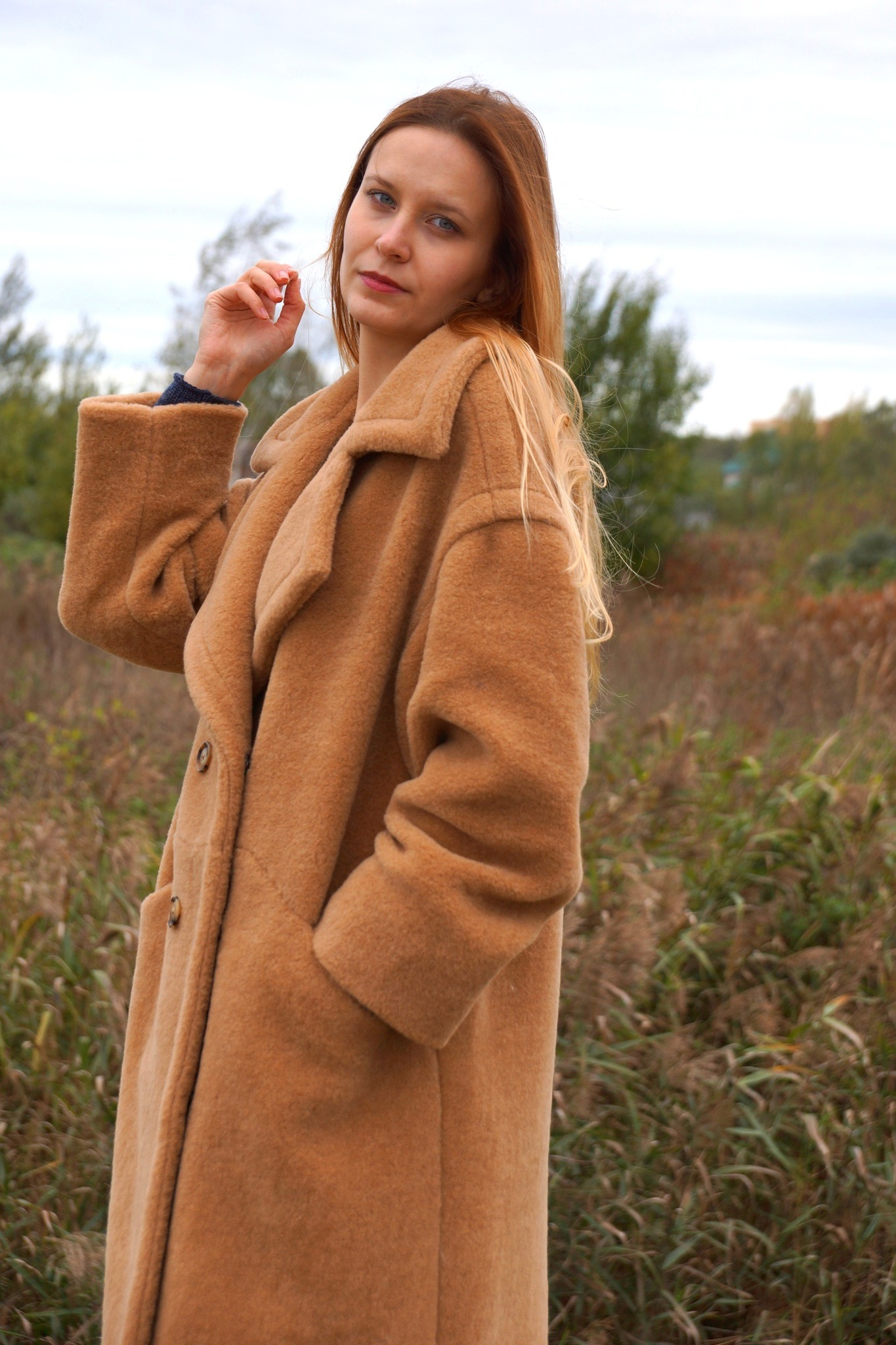 Пальто женское из шерсти Natiso (эко-мех)