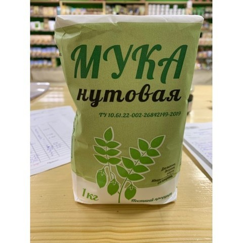 Мука Нутовая, 1кг (Эко-Ярмарка)