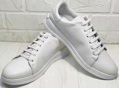 Женские летние кроссовки кеды низкие Evromoda 141-1511 White Leather.