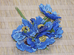 Букет цветов Дикий мак синий