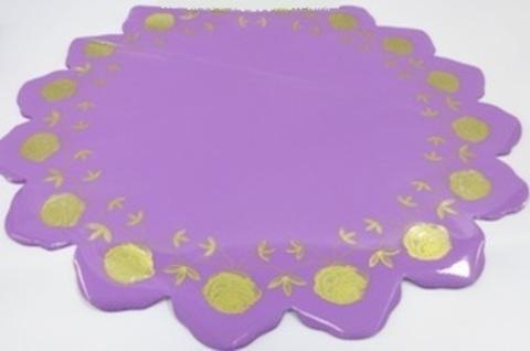 Салфетка Розочка (d=60см, упак.= 50 шт.) Цвет: сиреневый