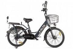 Электровелосипед Green City E-Alfa Fat (2020) Тёмно-серый