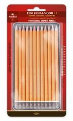 Набор чернографитных карандашей 1502 ART 8B-2H, 12шт, металл.коробка в блистере с подвесом