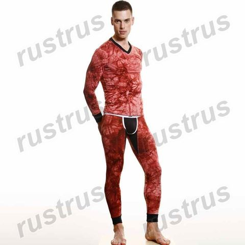 Мужская футболка с длинным рукавом красная Wang Jiang WG00146