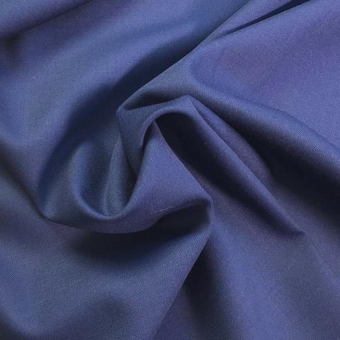 Ткань костюмно-плательная ткань цвет темно-синий 3227
