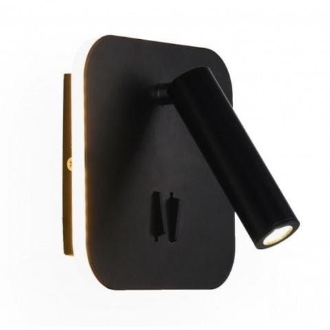 Настенный светодиодный светильник Ambrella FW253 BK/S черный/песок LED 4200K+3000K 12W