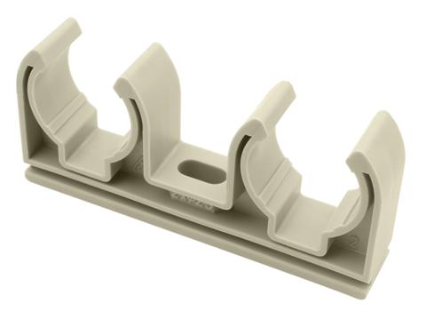FV Plast 2х20 мм двойное крепление для полипропиленовых труб