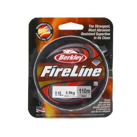 Плетеная леска Berkley Fireline 110M Темно-серая 0,10mm Smoke