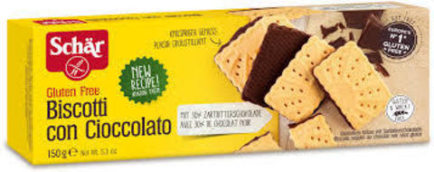 Печенье (Biscotti con cioccolato) с шоколад 150г б/глютена Schar