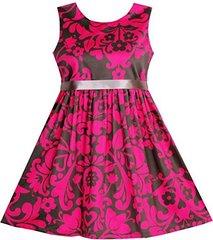 SUNNY FASHION Платье элегантное розово-кофейного цвета ДП62