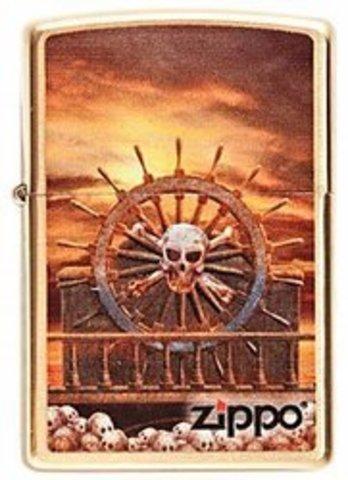 Зажигалка Zippo Skull & Wheel