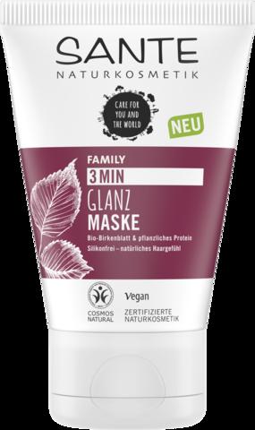 SANTE Экспресс-маска для блеска волос с био-берёзой и растительными протеинами, 100 мл