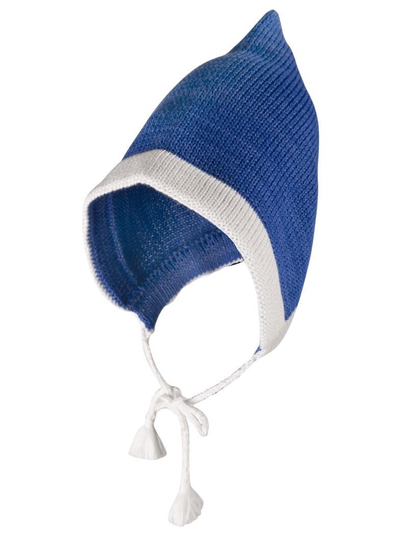 Вязаная шапка Гном Merri Merini в синем цвете 6-12 мес.