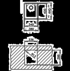 Мойка кухонная TEKA BE Linea R15 34.40 - схема