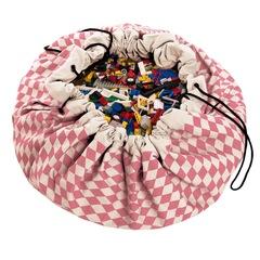 Коврик-мешок для игрушек (2 в 1) Play&Go Print РОЗОВЫЙ БРИЛЛИАНТ 79957