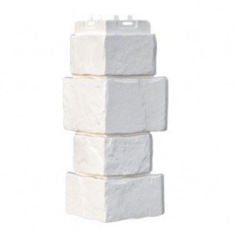 Угол наружный Гранд Лайн Крупный камень молочный 415х170 мм