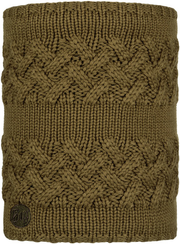 Вязаный шарф-труба с флисом Buff Neckwarmer Knitted Polar Savva Bark фото 1
