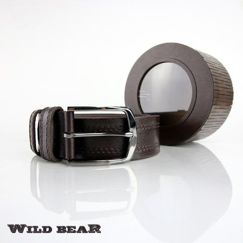 Ремень WILD BEAR RM-004f Brown Premium