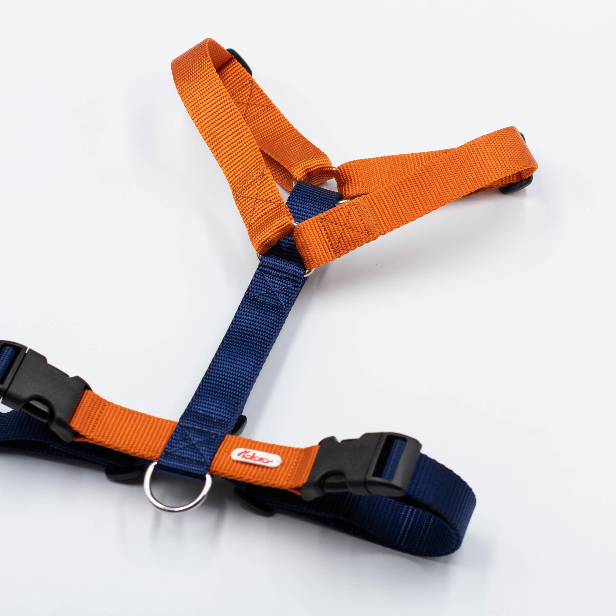Шлейка из стропы. Оранжевый & Темно-синий