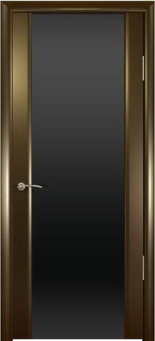 Дверь Шторм-3 стекло тонированное (венге, остекленная шпонированная), фабрика Океан