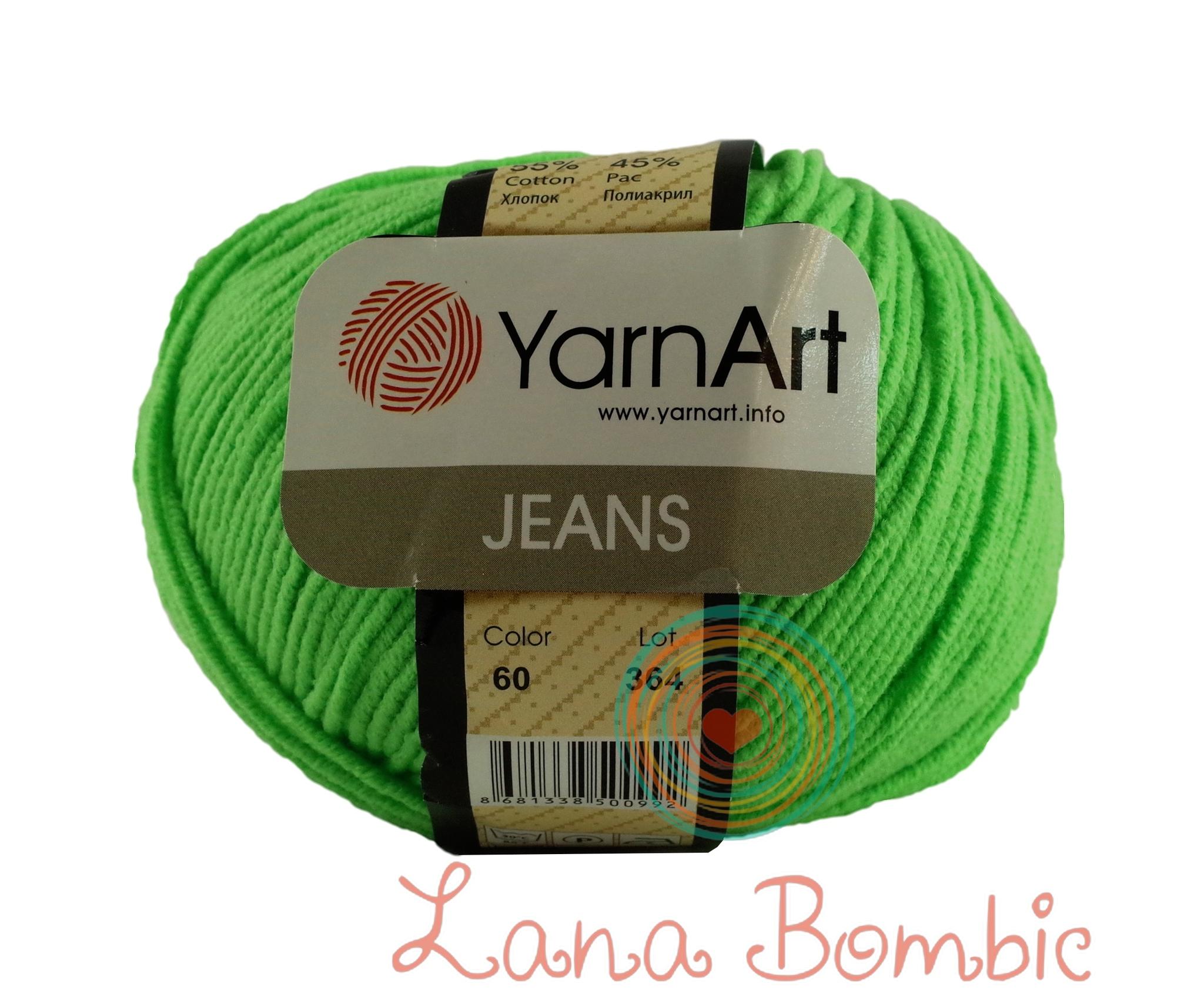 Пряжа YarnArt Jeans 60 салатовый