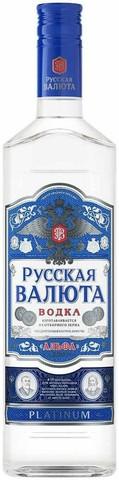 Водка Русская Валюта Платинум 0,5л