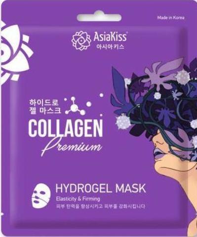 AsiaKiss Hydrogel Mask Collagen Premium Гидрогелевая маска для лица с коллагеном 25 гр