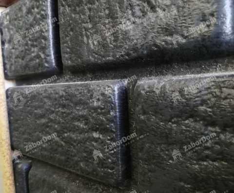 Сайдинг Ю пласт Стоун Хаус графитовый 3035х230 мм