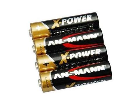 Батарейки щелочные AAA ANSMANN X-POWER 1.5V - 4шт в пленке