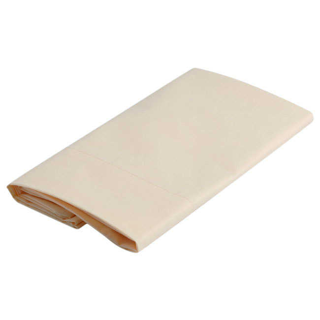 Free style top sheet & pillowcase / single beige