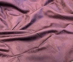 Премиум сатин-жаккард (100% мерсеризированный хлопок) сливово-фиолетовый
