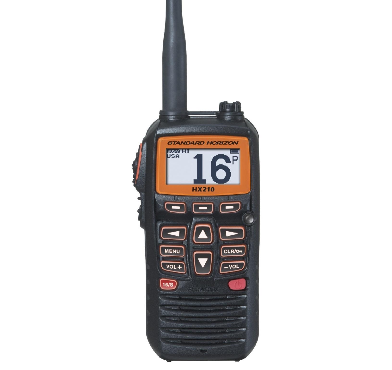 HX210E VHF handheld radio Standard Horizon