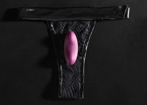 Фиолетовый клиторальный стимулятор Edeny с управлением через приложение