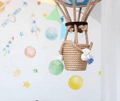 Небесно-голубой воздушный шар, 40*70 см, Россия