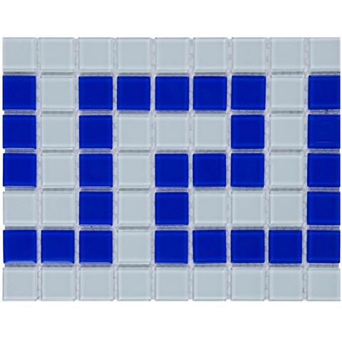 Фриз греческий Aquaviva Cristall бело-синий W/B / 16974