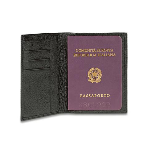 Обложка для паспорта Piquadro Modus, черная, 10,5x14x1,2 см